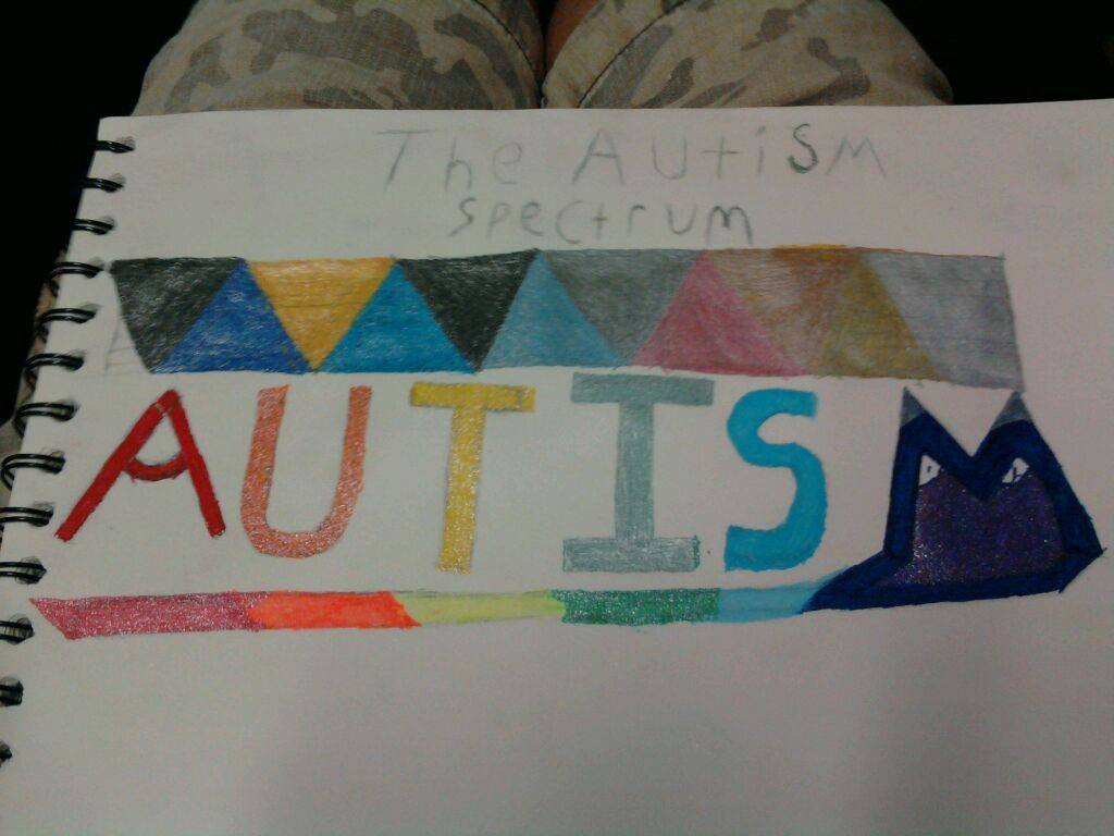 Autism Spectrum hand-drawn image